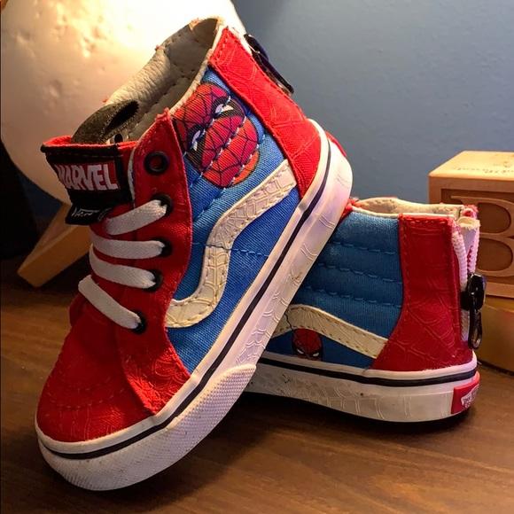 Vans Shoes | Kids Spiderman Vans | Poshmark